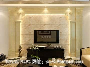 欧式背景墙中,软包作为室内墙面装饰材料其颜色通常为浅色,以体现