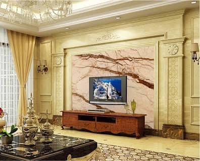 客厅电视背景墙石材罗马柱价格