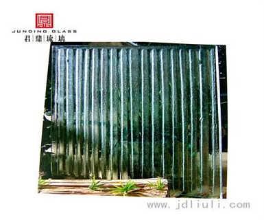 热熔玻璃水幕墙,热熔玻璃,耀华艺术玻璃图