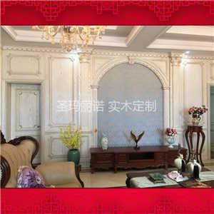 楼梯,实木吊顶,实木书柜,实木门,储物柜,护墙板以及整体实木家居设计.