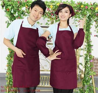 印字logo广告围裙工作服务员咖啡厨房西餐厅防水果店加工设计-郑州织耕堂商贸有限公司(郑州帆布袋)