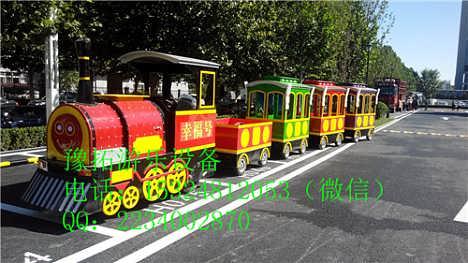 儿童复古无轨小火车 华美的观光小火车游乐设备