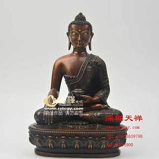 仿古释迦牟尼铜佛像 7寸-深圳市天禅工艺品有限公司