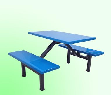 四人位条凳玻璃钢餐桌,玻璃钢餐台配条凳,环保耐用