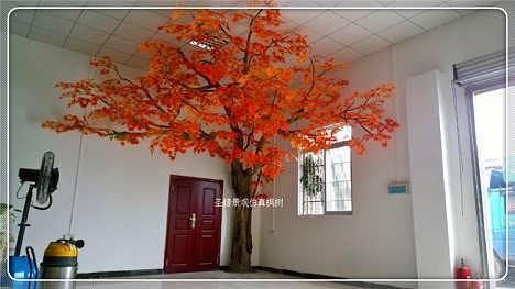 优质仿真红枫树 真实树干 红色 仿真大型红枫树厂家批发
