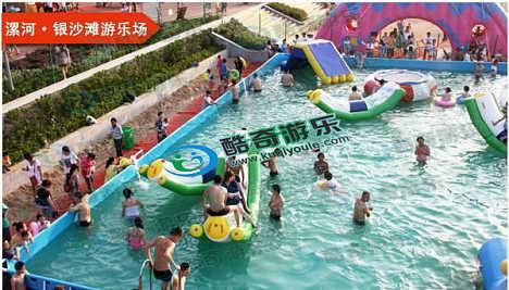 全套儿童水上充气滑梯蹦蹦床支架游泳池