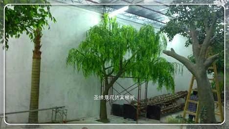订做仿真柳树 玻璃钢柳树仿真树等