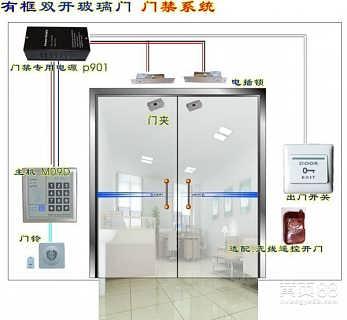 天津门禁安装厂家 天津玻璃门门禁安装价格