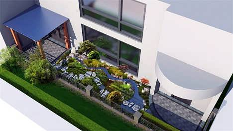 青岛庭院设计施工景观设计
