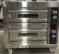 不锈钢两层四盘食品烤箱