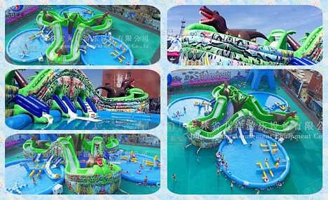 丛林探险乐园 水上乐园设施 水上游乐设备 大型充气城堡-吉林九洋游乐设备有限公司