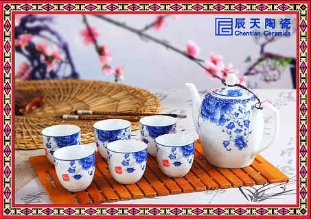简约白瓷带竹艺托盘功夫茶具套件-江西景德镇辰天陶瓷有限公司销售部