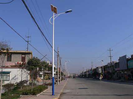 路灯 LED路灯 LED太能路灯 新农村LED太阳能路灯-保定福瑞光电科技有限公司