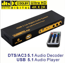DAC接老功放HDMI光纤音频转换器分离器A-深圳市优视联科技有限公司