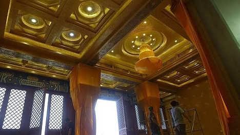 古建筑彩绘吊顶寺庙天花藻井佛堂吊顶