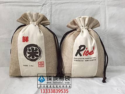 棉布米袋麻布米袋帆布袋米袋厂家