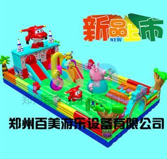 河北沧州儿童气包玩具蹦蹦床小猪佩奇火热上线