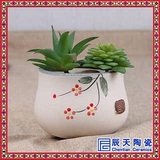 家用花艺盆栽花钵创意小花盆工艺礼品摆件