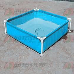 阳春帆布鱼池生产厂_JL600绿色帆布鱼池加工