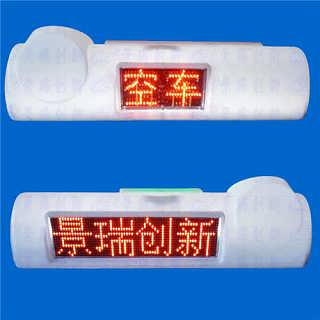 深圳LED车载显示屏,出租车顶灯广告屏安装