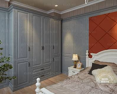 易高简欧定制衣柜|简欧卧室整体衣柜|平开门衣柜系列