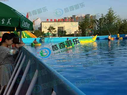 风靡全中国城市广场充气支架游泳池水乐园厂家设计直销