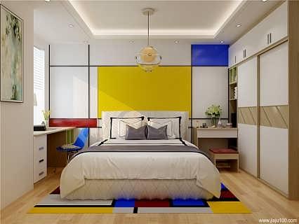 现代简约风格到顶衣柜定制装修案例-广州市诗尼曼家居有限公司