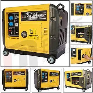 静音箱式5KW小型柴油发电机