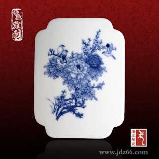 景德镇鸡年图案瓷板画陶瓷礼品、图案定制