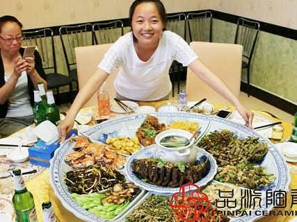 找酒店十人用餐特大号装菜、海鲜大咖专用大盘-景德镇市品派陶瓷有限公司