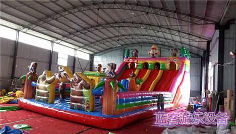 黑龙江黑河儿童充气城堡租借-郑州蓝客游乐设备有限责任公司