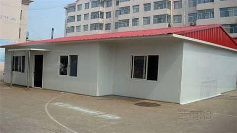 内蒙古赤峰低价焊接式防风可回收活动房-天津祈虹彩钢钢构有限公司销售部