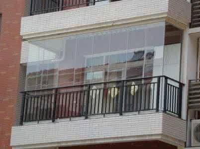 上海阳台装修 封阳台定做无框玻璃窗 铝合金窗