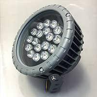 厂家直销LED新款车轮投光灯12w18w36w园林照树灯单色七彩定制-中山星璨照明工程有限公司