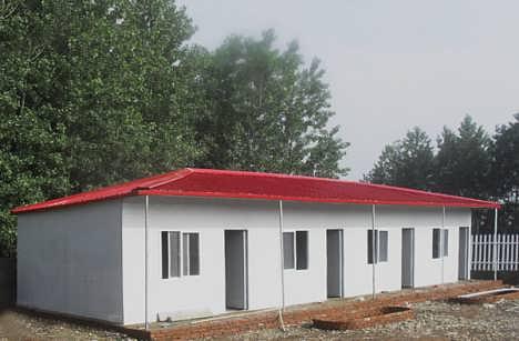 河北唐山工地用岩棉复合板彩钢活动房-天津祈虹彩钢钢构有限公司销售部