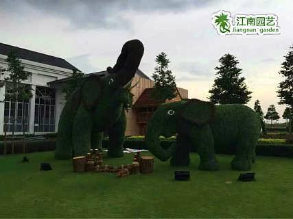 郑州仿真绿雕那里有江南园艺大象动物生产制作厂家