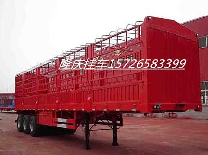 13仓栅半挂车生产厂家价格-济宁隆庆汽车销售有限公司