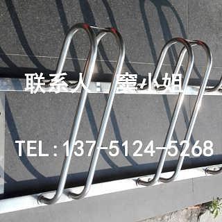 直销供应卡位式304不锈钢安全优质自行车停车架