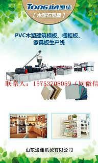 塑料机械厂 通佳竹木纤维生态墙面设备