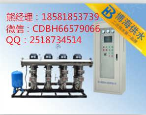 无负压给水设备设备安装及工作原理