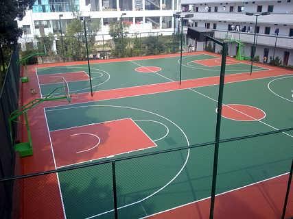 硅pu篮球场 硅pu球场施工 深圳硅pu厂家直销