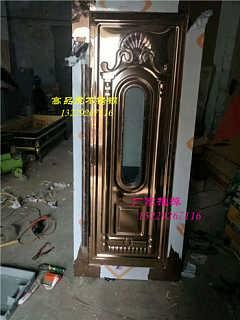 建锋业不锈钢提供不锈钢玫瑰金板压KTV包厢门板