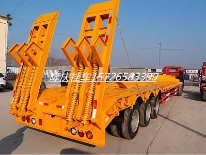 钩机板运输半挂车 挖掘机运输半挂车价格-济宁隆庆汽车销售有限公司