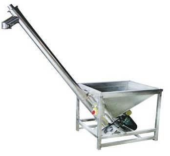 倾斜式圆管提升机价格   二相电散料上料机