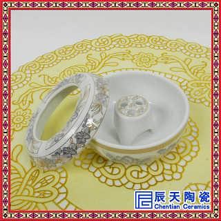 复古装饰陶瓷烟灰缸  加字礼品烟灰缸