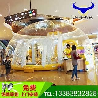 水晶宫透明球池,我们的童话梦-郑州上街区神牛充气游乐设备厂