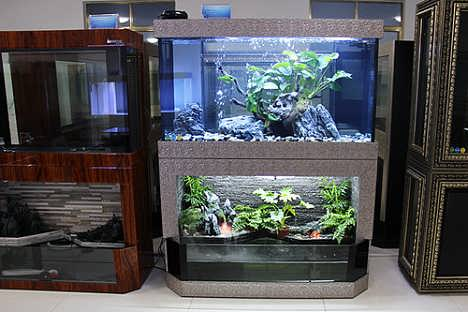 流水景观鱼缸招商加盟费用图片