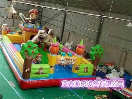 新型儿童充气蹦床 充气城堡玩具-郑州蓝客游乐设备有限责任公司
