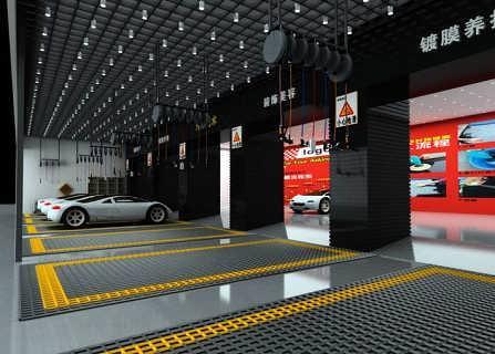 郑州汽车美容店设计公司,郑州专业洗车行装修设计公司