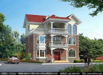 农村自建三层房屋设计_新农村三层小别墅设计图纸